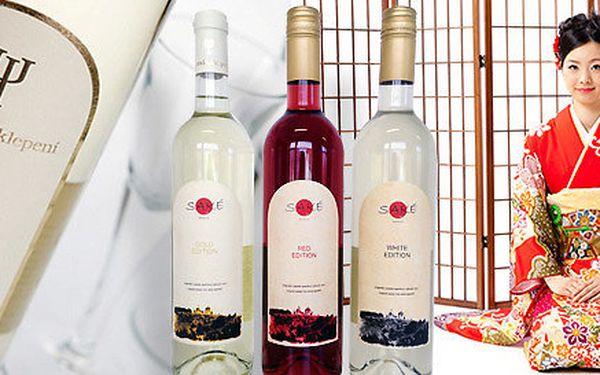 3× aperitivní rýžové víno – Saké ve třech podobách