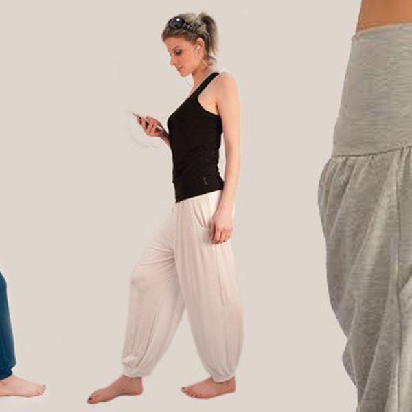 Dámské pohodlné kalhoty na volný čas - 63% sleva