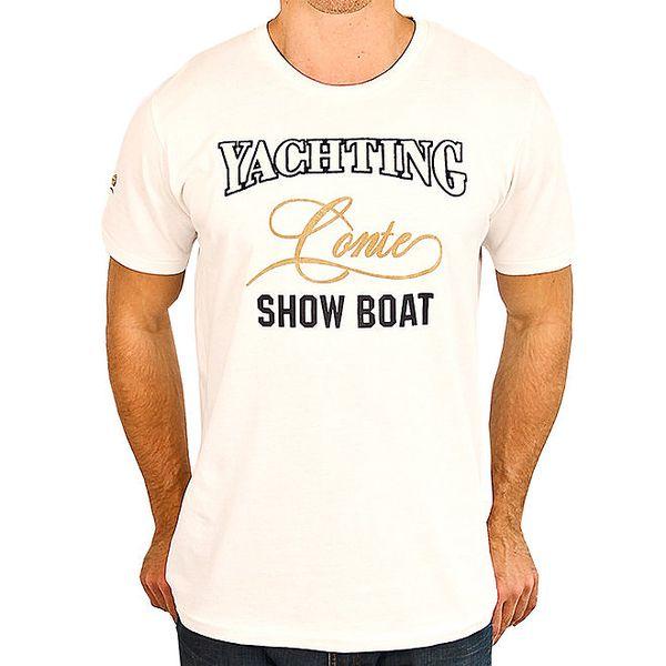 Pánské bílé tričko s nápisem M. Conte