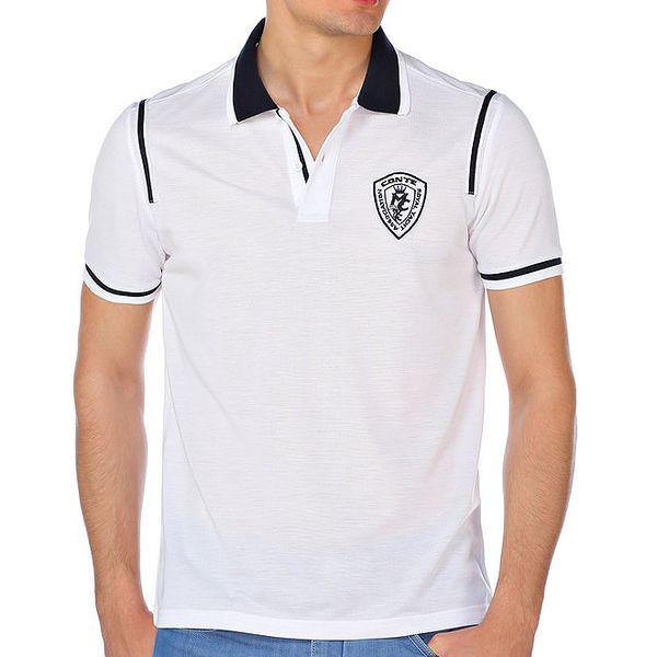 Pánské bílé polo tričko M. Conte