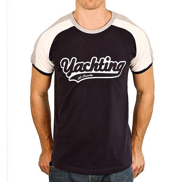 Pánské tričko se světlými rameny a nápisem M. Conte