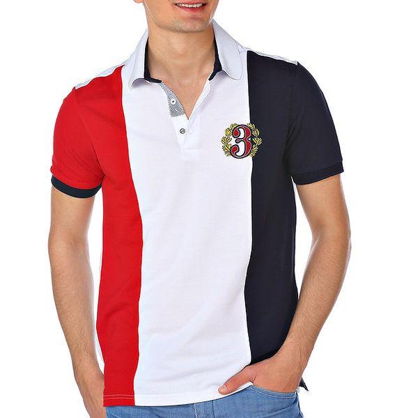 Pánské trojbarevné polo tričko M. Conte