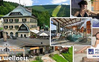 Luxusní wellness pobyt v oblíbeném hotelu Praha****Špindlerův Mlýn- ubytování v komfortně zařízených pokojích, bohatá snídaně, welcome drink, neomezený vstup do Spa&Relax se 3 druhy saun, vířivkou a bazénem s překrásným výhledem!