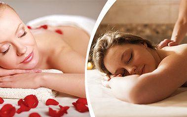 Luxusní růžová masáž zad, šíje a dolních končetin