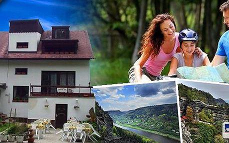 3, 4 nebo 6 dní v Českém Švýcarsku pro 2 osoby v Penzionu U Stašáků s polopenzí za skvělou cenu! Nádherná příroda národního parku, Pravčická brána jen 8 km od penzionu. Platnost až do konce září. Perfektní podmínky pro turistiku i cykloturistiku!