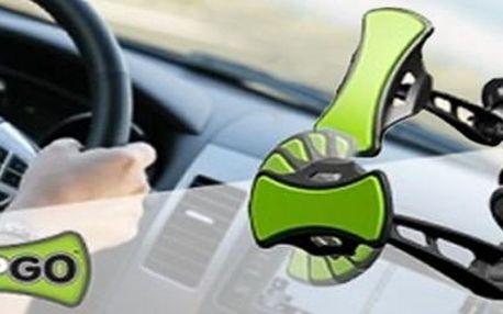 Univerzální držák do automobilu GripGo. Držák se snadnou manipulací, který udrží libovolný telefon či GPS navigaci.