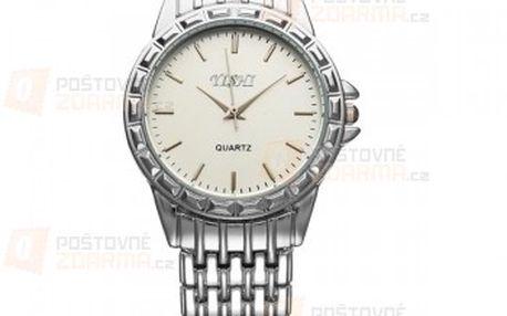 Unisex hodinky ve stříbrné barvě - dvě provedení a poštovné ZDARMA! - 14810207