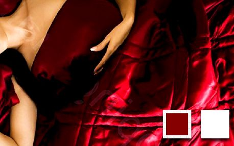 Saténový ložnicový set Sensualité de Paris: luxus pro vaši postel! 4 barvy.