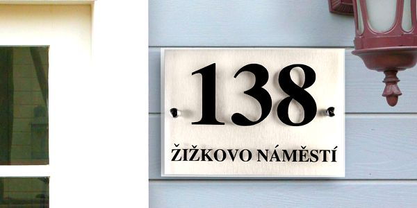 Domovní čísla popisná – 2 rozměry