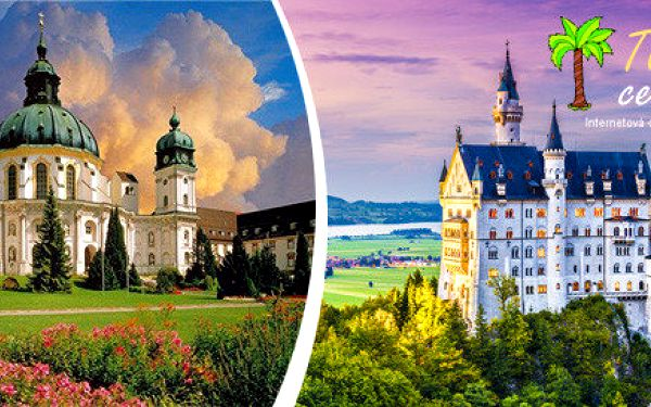 Benediktinské opatství - kláštěr Ettal a zámek Neuschwanstein