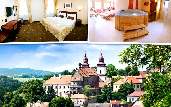 3, 4 nebo 5 dní v hotelu U Černého orla**** v Třebíči pro 2 osoby