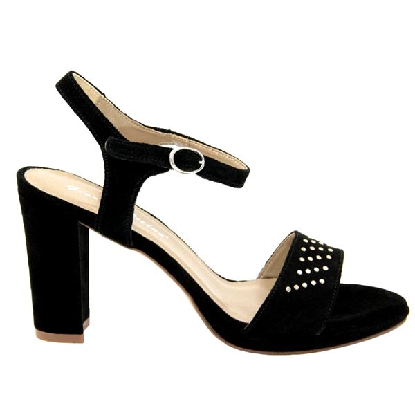Dámské černé semišové sandálky s ozdobnými cvočky Giorgio Picino