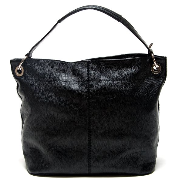 Dámská černá kabelka s vnější kapsičkou Mangotti