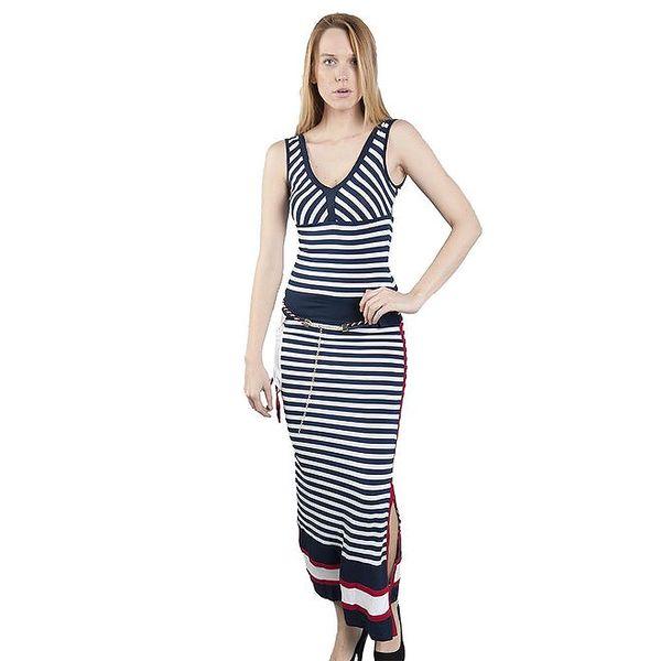 Dámské dlouhé pruhované šaty Via Bellucci