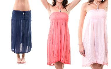 Dámské letní šaty s vázáním za krk 2v1