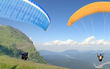 Tandemové paraglidingové lety v okolí Prahy