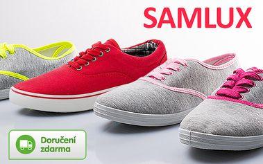 Dámské plátěné tenisky Samlux – doručení zdarma