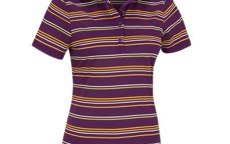 Dámské funkční fialové pruhované polo tričko Maier