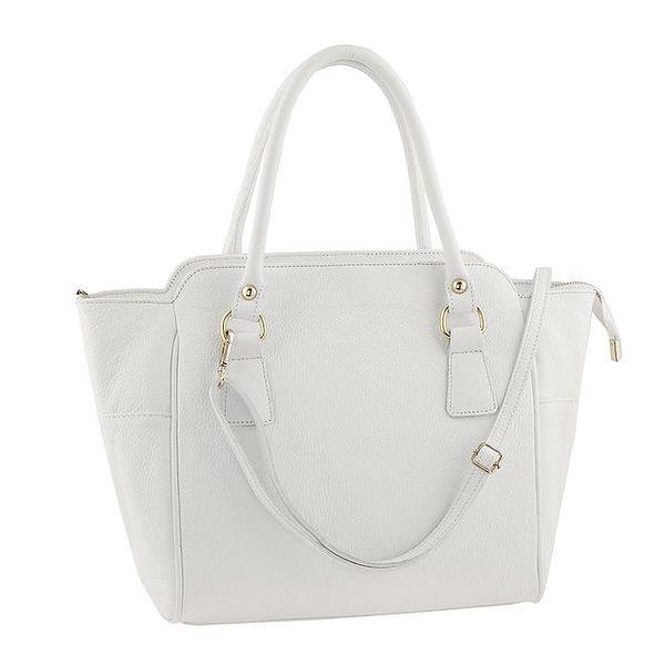 Dámská kožená kabelka s popruhem v bílé barvě Ore 10