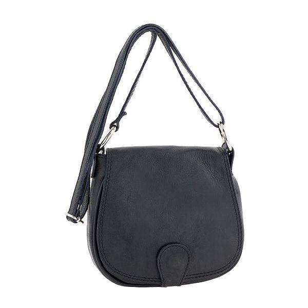 Dámská menší kožená kabelka v černé barvě Ore 10