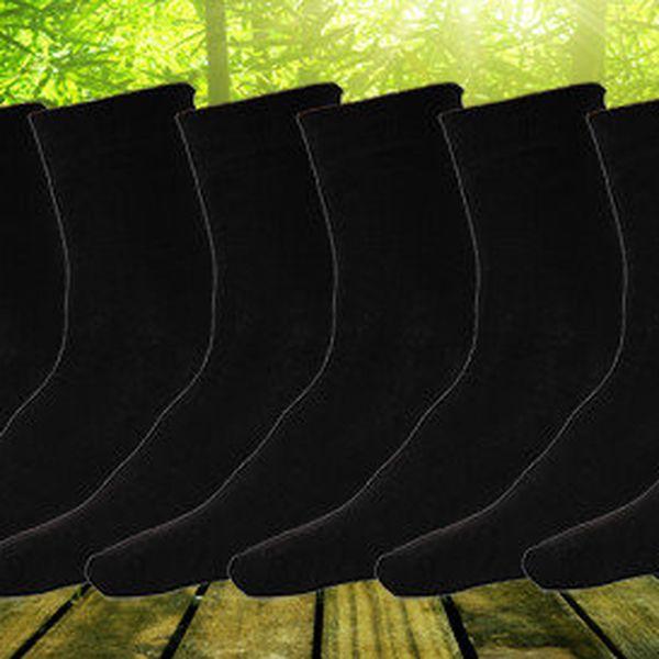 9 párů pánských klasických ponožek z bambusového vlákna