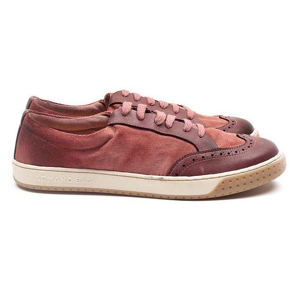 Pánské růžovočervené tenisky Armand Basi