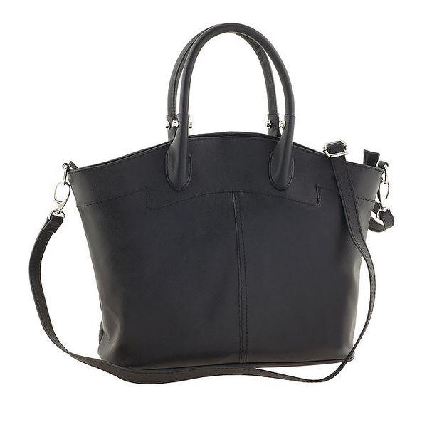 Dámská černá prostorná kožená kabelka Ore 10