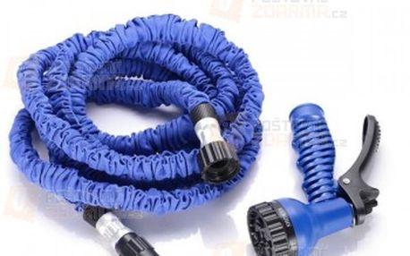 Flexibilní zahradní hadice s hlavicí na hadici - modrá barva a poštovné ZDARMA! - 15610251