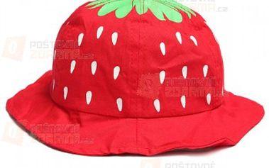 Dětský klobouček ve designu jahůdky - více barev a poštovné ZDARMA! - 16010162
