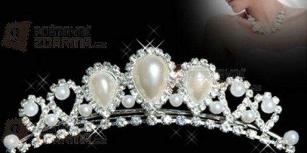 Slavnostní čelenka do vlasů s umělými perličkami a poštovné ZDARMA! - 15010213