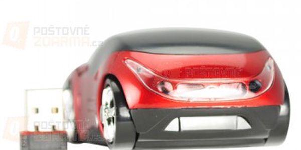Bezdrátová optická myš ve tvaru Ferrari - červená a poštovné ZDARMA! - 15000109