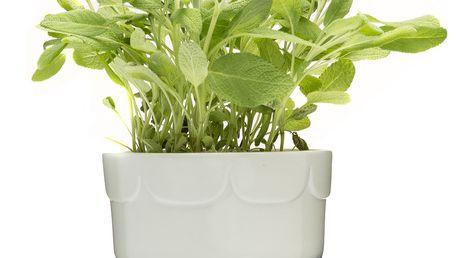 Zelený květináč Sagaform se zavlažovací miskou
