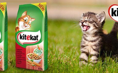 Až 3× 12 kg granulí Kitekat pro kočky