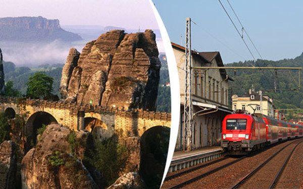 Výlet vlakem z Prahy do Saského Švýcarska s možností plavby lodí z Pirny do Hřenska