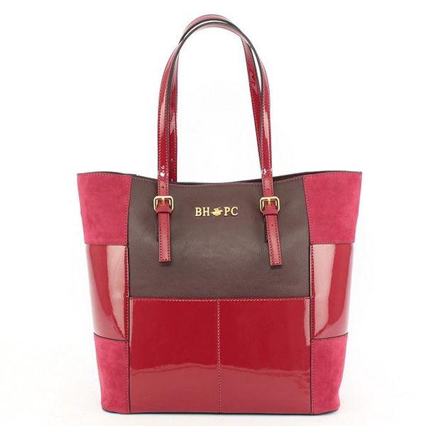 Dámská růžovo-fialková taška Beverly Hills Polo Club