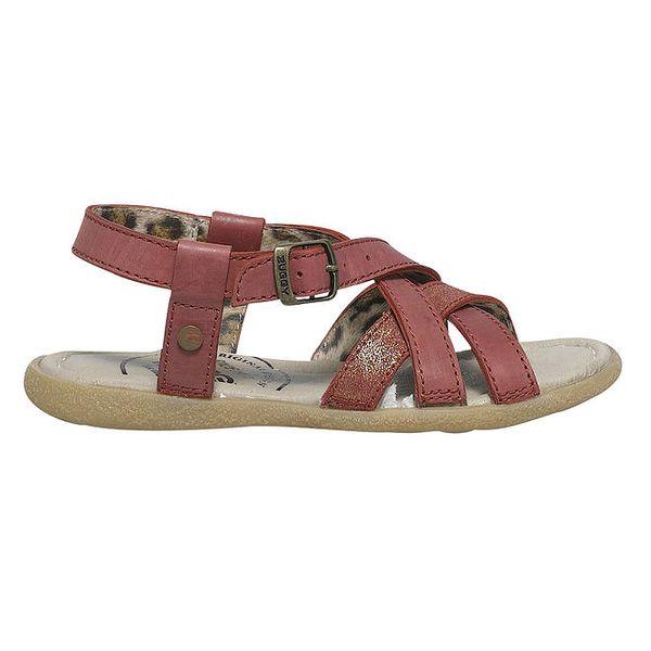 Dámské červené páskové sandálky Buggy