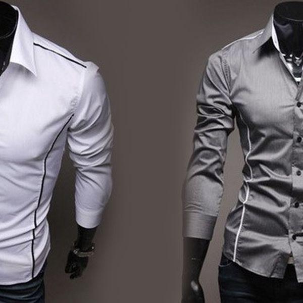 Stylová pánská košile Slim Fit s 50% slevou