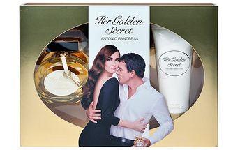 Antonio Banderas Her Golden Secret EDT dárková sada W - Edt 80ml + 100ml tělové mléko