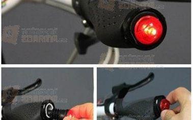Osvětlení do řídítek se senzorem vibrací a poštovné ZDARMA! - 15110276