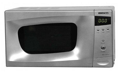 Mikrovlnná trouba BEKO MWC 2010 ES s grilem o objemu 20 litrů.