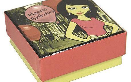Hrací dárková krabička Music - Box Music box 9x9cm 05_Happy Birthday balónek