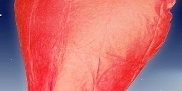 Létající lampióny štěstí ve tvaru srdce - 4 ks za pouhých 99 Kč! Jedinečná nabídka nádherných lampiónů !