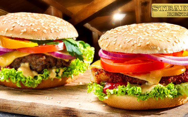2 šťavnaté fresh burgery a hranolky