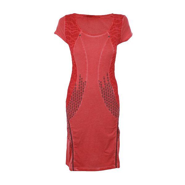Dámské červené vzorované šaty Angels Never Die