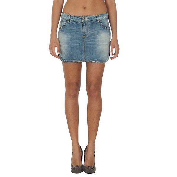 Dámská krátká modrá džínová sukně