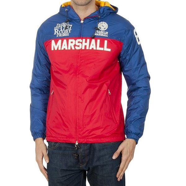 Pánská modro-červená šusťáková bunda Franklin & Marshall