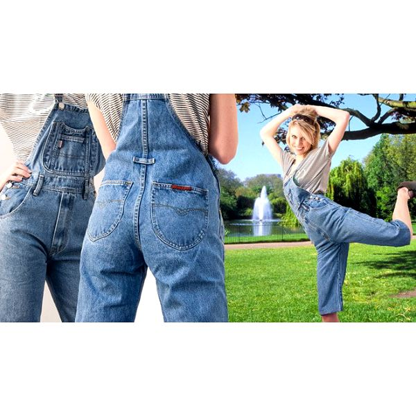 Originální dámské džínsové lacláče levně!