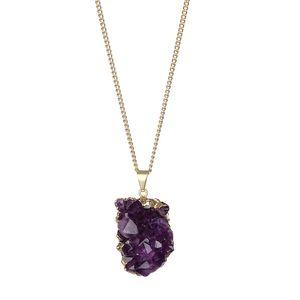 Ručně vyrobený náhrdelník Crystal Rock Ametyst 60 cm