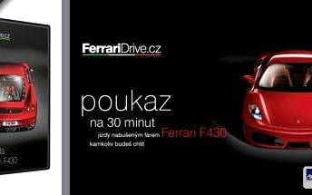 Žijeme jen jednou, proto si s námi pojďte život pořádně užít! Věřte, že na jízdu v tomto autě nikdy nezapomenete! 30 minut jízdy snů ve voze Ferrari F430 v Ostravě a Olomouci!