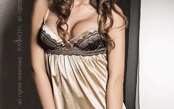 Luxusní košilka + tanga Sharon Gold